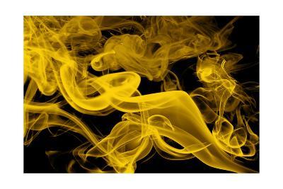 Yellow Smoke-GI ArtLab-Premium Giclee Print