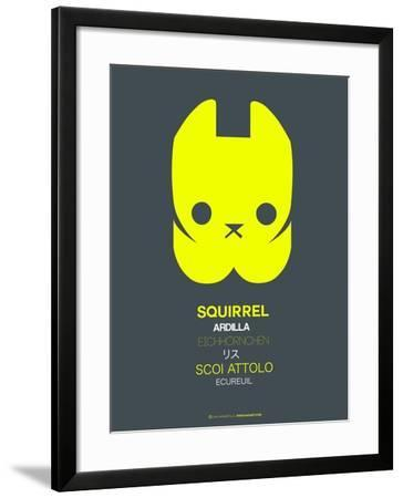 Yellow Squirrel Multilingual Poster-NaxArt-Framed Art Print