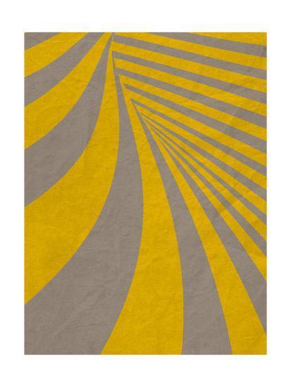 Yellow Swirls B--Premium Giclee Print