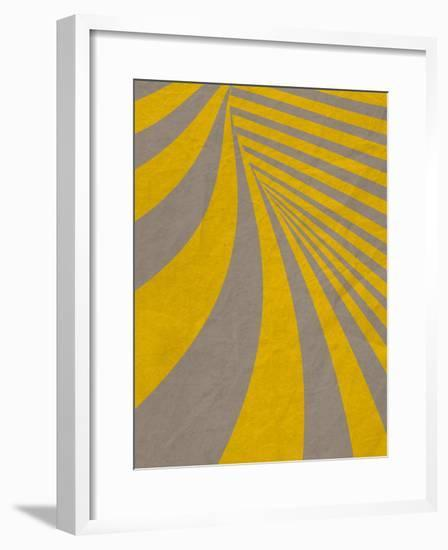 Yellow Swirls B--Framed Premium Giclee Print