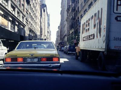 Yellow Taxi in Traffic, NYC, NY-Chris Minerva-Photographic Print