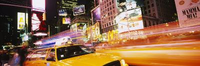 Yellow Taxi on the Road, Times Square, Manhattan, New York City, New York, USA--Photographic Print