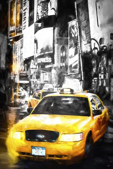 Yellow Taxi-Philippe Hugonnard-Giclee Print