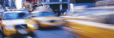 Yellow Taxis on the Road, Times Square, Manhattan, New York City, New York State, USA--Photographic Print