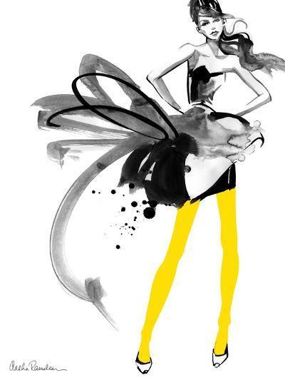 Yellow Tights-Aasha Ramdeen-Art Print