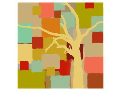 Yellow Tree I-Yashna-Art Print