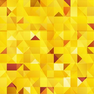 Yellow Triangles Seamless Pattern-art_of_sun-Art Print
