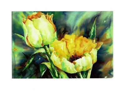 Yellow Tulips-Hanneke Floor-Art Print