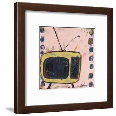 Yellow TV-Brian Nash-Framed Art Print