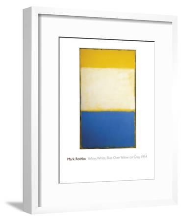 Yellow, White, Blue Over Yellow on Gray, 1954-Mark Rothko-Framed Giclee Print