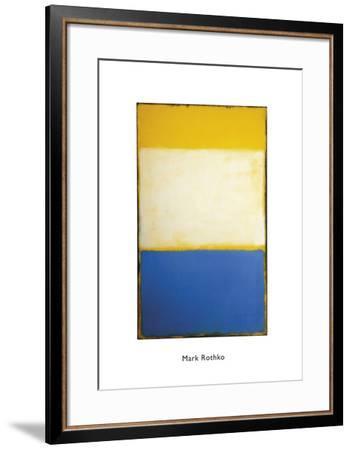 Yellow, White, Blue Over Yellow on Gray, 1954-Mark Rothko-Framed Art Print