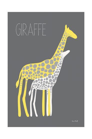 Yellow Zoo V-Kris Ruff-Art Print