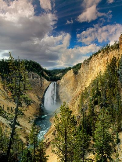 Yellowstone Falls-Ike Leahy-Photographic Print