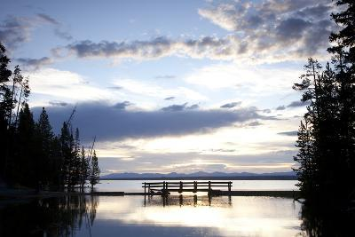 Yellowstone Lake In Yellowstone National Park, WY-Justin Bailie-Photographic Print