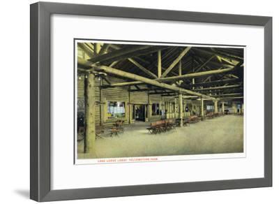 Yellowstone Nat'l Park, Wyoming - Lake Lodge Lobby Interior-Lantern Press-Framed Art Print