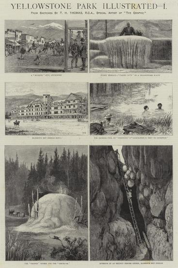 Yellowstone Park Illustrated, I--Giclee Print