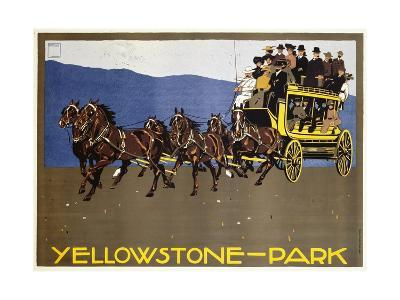 Yellowstone-Park Poster-Ludwig Hohlwein-Giclee Print
