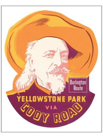Yellowstone Park Via Cody Road--Premium Giclee Print