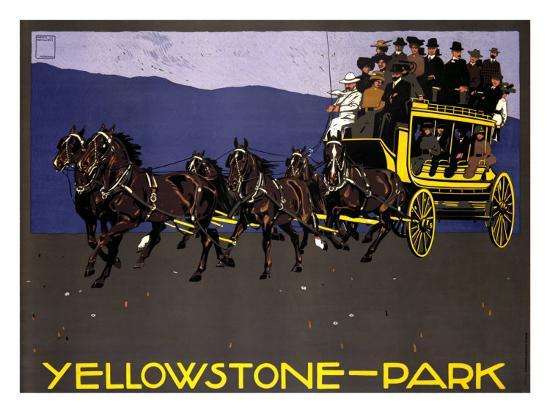 Yellowstone Park-Ludwig Hohlwein-Giclee Print