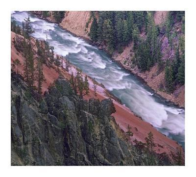 Yellowstone River, Yellowstone National Park, Wyoming-Tim Fitzharris-Art Print