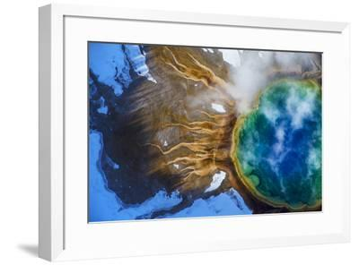 Yellowstone's Grand Prismatic Spring, the largest hot spring in the United States.-Michael Nichols-Framed Photographic Print