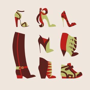 Woman Shoes by yemelianova