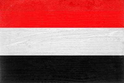 Yemen Flag Design with Wood Patterning - Flags of the World Series-Philippe Hugonnard-Art Print