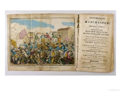 Yeomanry Charge a Crowd Gathered in Manchester to Hear Speeches Supporting Parliamentary Reform- Atkins-Giclee Print
