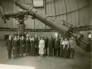 Albert Einstein and the Staff of Yerkes Observatory by Yerkes Observatory