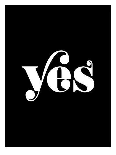 Yes BLK-Brett Wilson-Art Print