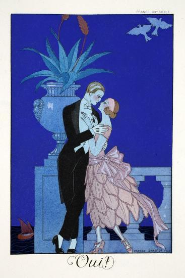 Yes!, from 'Falbalas and Fanfreluches, Almanach des Modes Présentes, Passées et Futures', 1922-Georges Barbier-Giclee Print