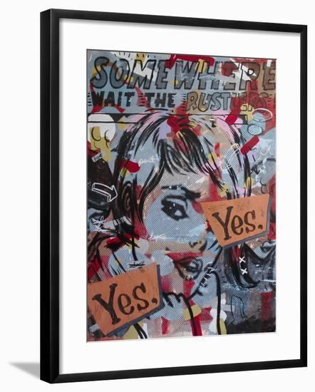 Yes Yes-Dan Monteavaro-Framed Giclee Print