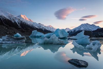 Sunrise at Tasman Glacier River by Yi Jiang Photography