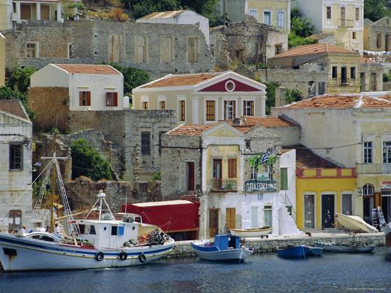Yialos, Symi, Greece-Fraser Hall-Photographic Print