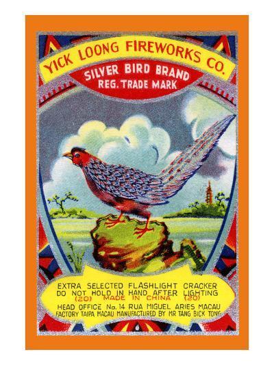 Yick Loong Silver Bird Brand Firecracker--Art Print