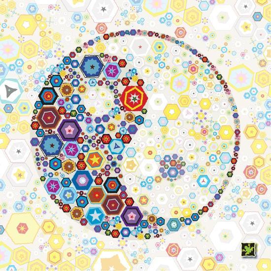 Yin Yang Discs-Jeffrey Cadwallader-Art Print