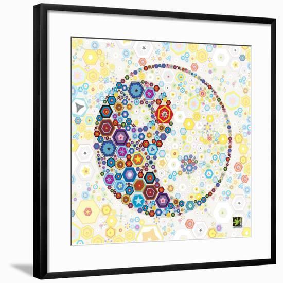 Yin Yang Discs-Jeffrey Cadwallader-Framed Art Print
