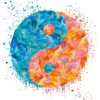 Yin Yang - Square-Lebens Art-Art Print