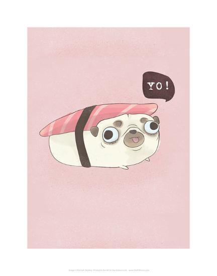 Yo! - Hannah Stephey Cartoon Dog Print-Hannah Stephey-Art Print