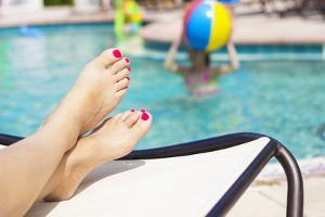 Beautiful Feet and Toes by the Swimming Pool by yobro