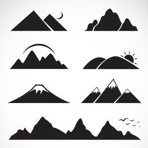 Set of Mountain Icons by yod67
