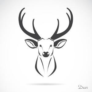 Vector Image of an Deer Head by yod67