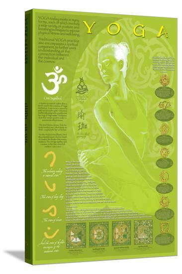 Yoga and Its Symbols--Stretched Canvas Print