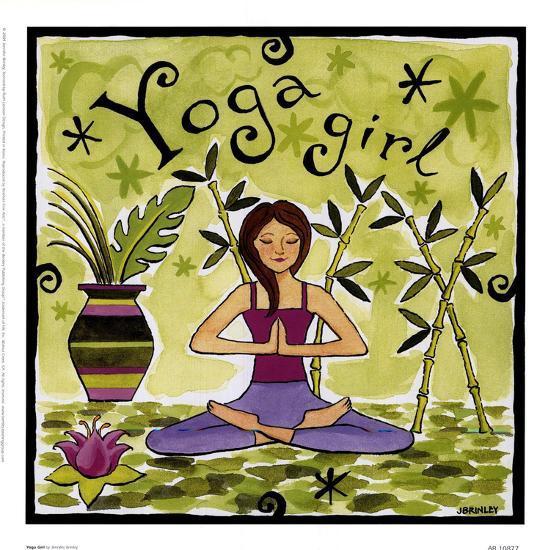 Yoga Girl-Jennifer Brinley-Art Print