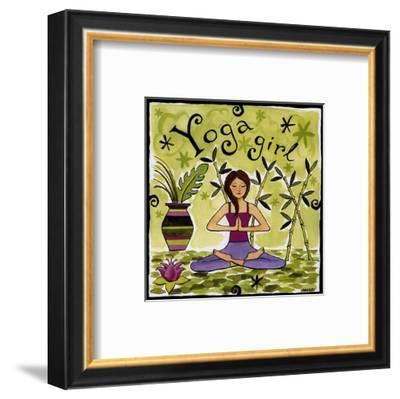 Yoga Girl-Jennifer Brinley-Framed Art Print