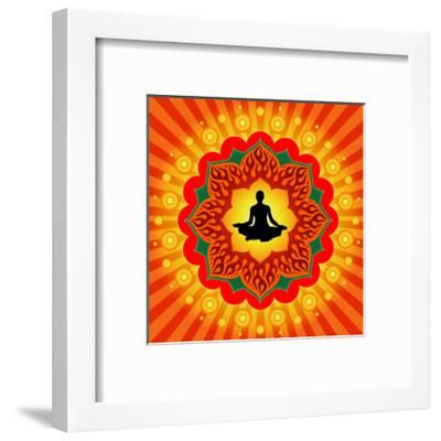 Yoga - Meditation-mahesh_patil-Framed Premium Giclee Print