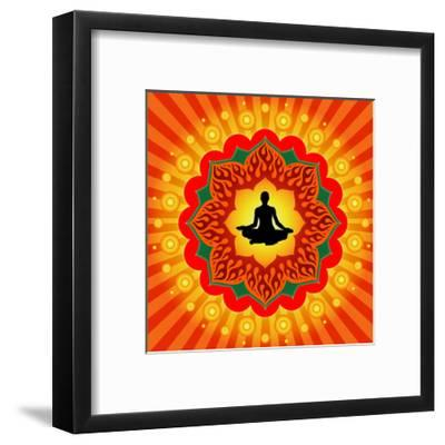 Yoga - Meditation-mahesh_patil-Framed Premium Giclee Print