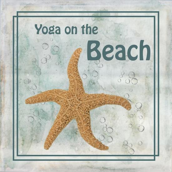 Yoga on the Beach-Ramona Murdock-Art Print