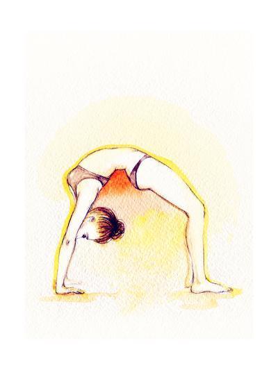 Yoga Position. Watercolor Illustration-Anna Ismagilova-Art Print