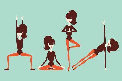 Yoga Workout-yemelianova-Art Print